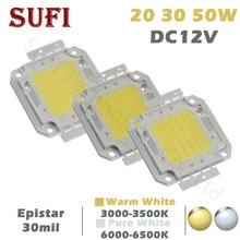 DC12V LED Işıklandırmalı 20 W 30 W 50 W Beyaz Sıcak Beyaz LED çip 20 30 50 W Watt LED işıklandırmalı Spot Dış Aydınlatma