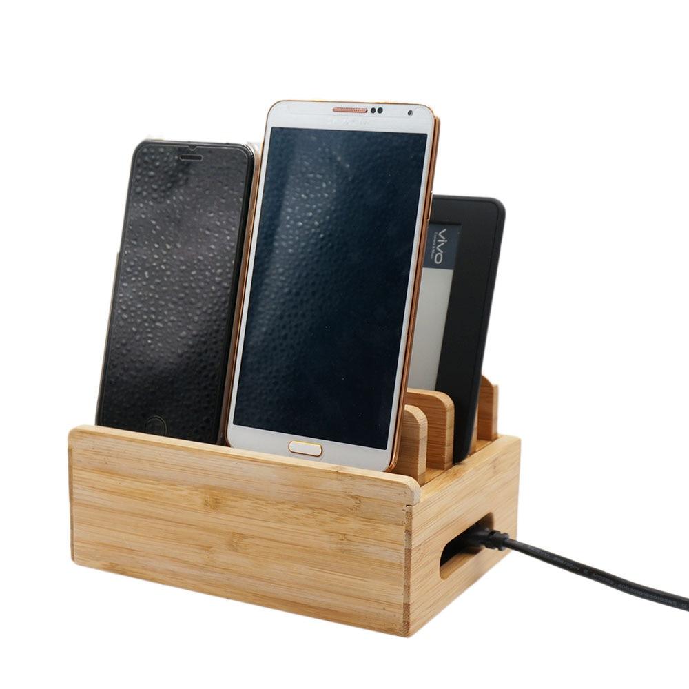 Sofalami M1 Bambus Holzhalter 35W 5V 7A 6 USB-Anschluss Ladestation - Handy-Zubehör und Ersatzteile - Foto 2