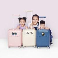ZYJ/для мужчин и женщин, детский Багаж для мальчиков и девочек, милый чемодан на колесиках из сплава, на колесиках, 17 дюймов, багаж