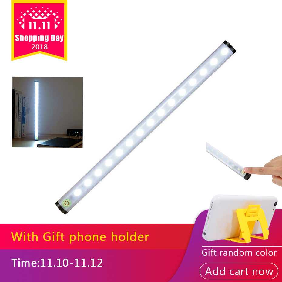 15 LED 4 Modes Touch Switch Aluminum Night Light USB Rechargeable Battery Wireless Wall Lamp For Reading Closet Cabinet Wardrobe cob led wall lamp rotary switch night light adjustable wireless closet cordless lamp battery operated wardrobe light