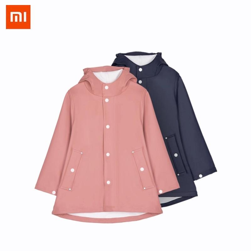 Xiaomi 7th Rain Coat Outdoor Waterproof Raincoat Reflection Strip Impermeable Hooded Poncho Kids children Rainwear Rain Gear