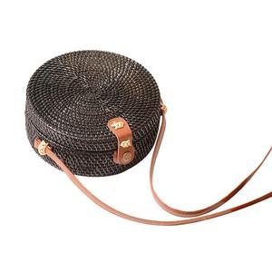 Image 5 - 2019 женская сумка новая круглая соломенная сумка большая летняя сумка из ротанга ручная пляжная сумочка дамская сумка
