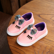 kids sneakers 2017 Spring Autumn New Korean children casual shoes girls bow Princess flat shoes a pedal peas Children's footwear