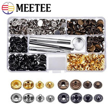 Meetee 12mm 40/80/100/120/140set Pure Copper Snap Button+Installation Tool Down Jacket Clothing Fastener Buckle Accessory AP644