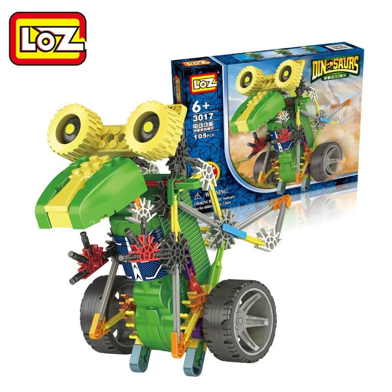 LOZ Moteur Blocs de Construction Robotique Tyrannosaur Robot T Rex Dinosaure Action Modele Jouets DIY font
