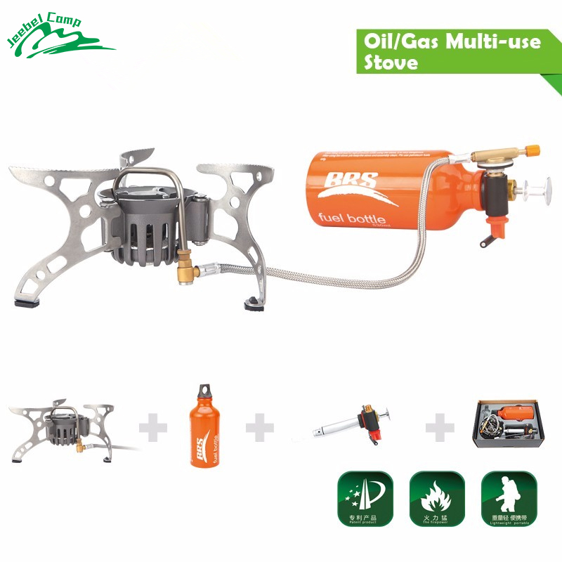 Oil/Gas Dual-Use Camping Stove Gas Burner Outdoor Cooker Picnic Cookout Split-Type Stove Hiking Equipment Butane Blaze BRS-8