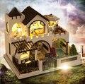Сборка 3d головоломки кукольный дом миниатюры любовь замок ручной работы diy кукольный домик творческий подарок для любовника взрослых девочек