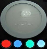Bsod rgb led painel de luz downlight 12 v lâmpada do teto com ir controlador rgb 12 v adaptador 2a e 2 pcs de fixação 12 unidades/pacote