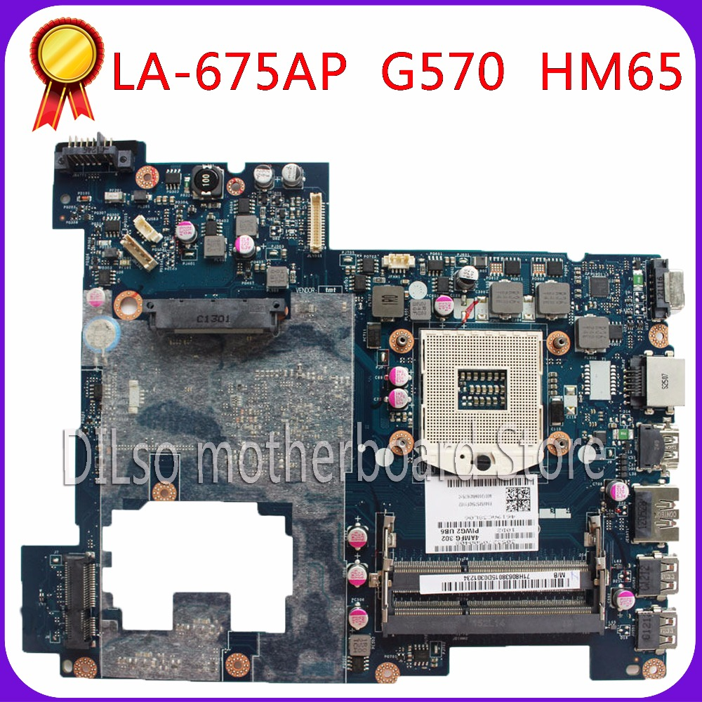 KEFU LA-675AP motherboard For Lenovo G570 laptop motherboard REV1.0 HM65 DDR3 PGA989 mainboard free shipping tested motherboard for lenovo laptop motherboard g570 piwg2 la 6753p hm65 ddr3 pga989 mainboard