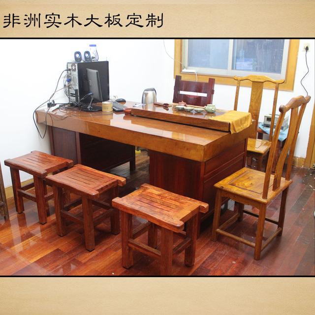 African Wood Slab Tables Original Wood Pear / Red / Pakistan Flowers /  Wenge / Green