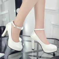 eb0989342f Autumn New High Heeled Waterproof Two Wear Buckle With Round Red Wedding  Shoes Bridesmaid Shoes Four