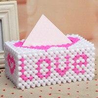 DIY Hand made Bead Family Paper Towel Box LOVE Care Towel Box