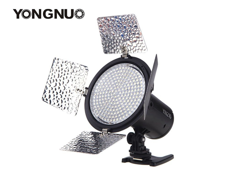 Yongnuo YN216 13W 5500K CRI 90 LED Video Light For Canon DSLR Camera 3 Kinds of Power Supply Mode Four color temperature plates free shipping cri 90