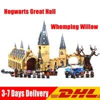 LegoINGlys 75954 75953 Lepin 16052 16054 Harry Pott Magic School Hogwarts Great Hall Whomping Willow House Kids Christmas Toys