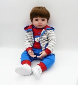 Image 2 - NPKCOLLECTION 48cm Silicone reborn doll baby boy doll reborn for children gift alive bonecas reborn de silicone  kids toy