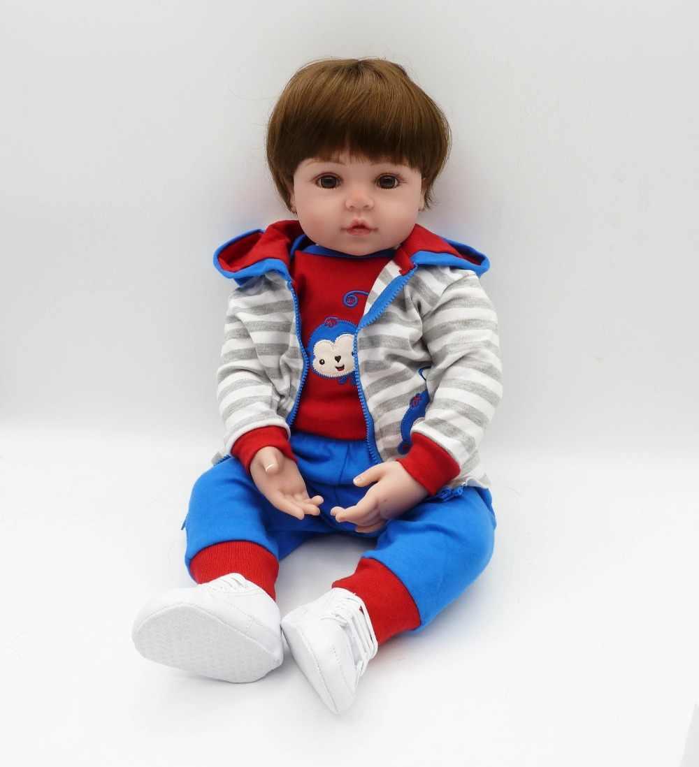 NPKCOLLECTION 48cm Silicone reborn doll baby boy doll reborn for children gift alive bonecas reborn de silicone  kids toy