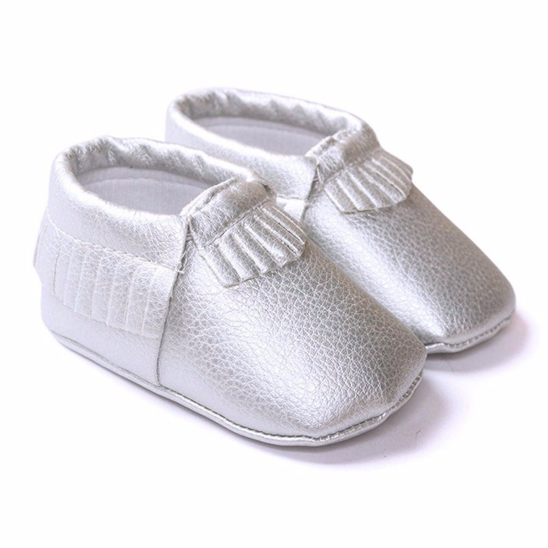 Newborn Baby Boys Girls Crib Shoes Kids Tassel PU Leather Shoes Toddler  Moccasin Soft Sole First Walkers c39067e8ac9f