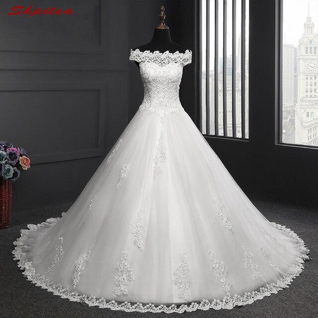 Elegante Spitze Brautkleider Tüll Perlen Pailletten Brautkleider ...
