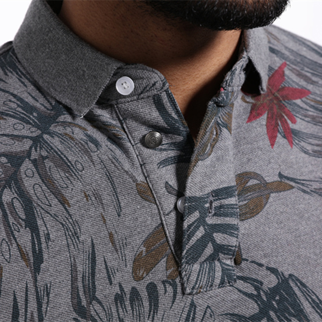 Polo Shirt New Floral Fashion Breathable Casual Polo Shirt Mens Brand Cotton Polo Homme Short Sleeve Camisas polos men