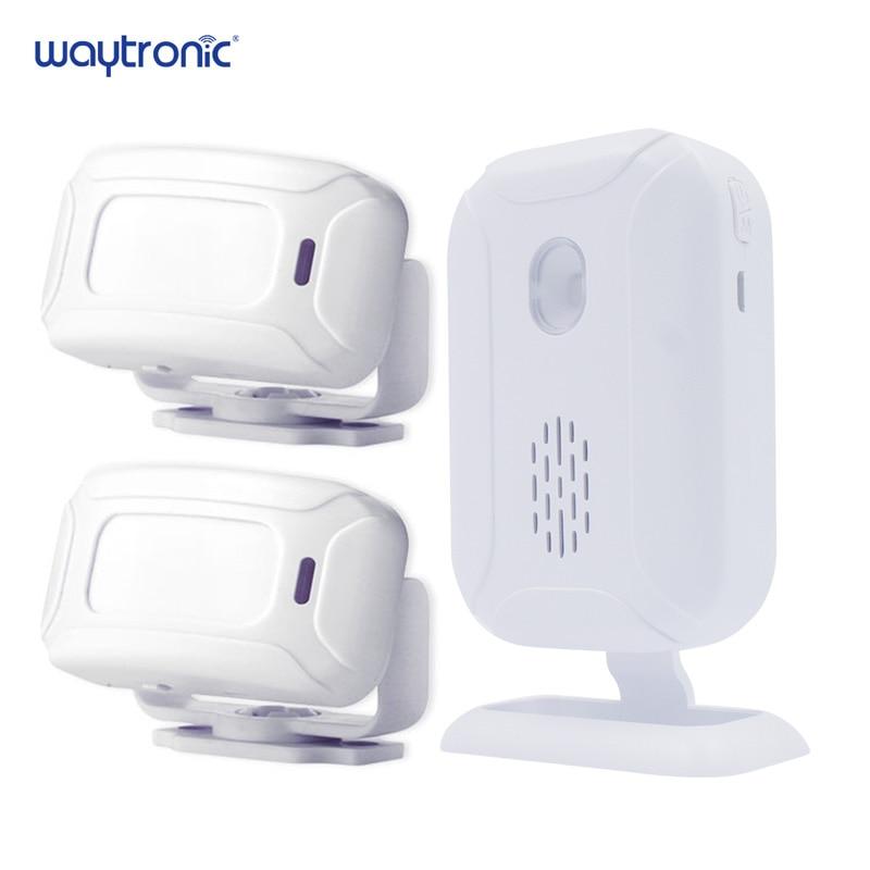 Wireless Welcome Alarm Doorbell PIR Store Shop Entry Motion Sensor Infrared Detector Induction Door Bell-in Sensor & Detector from Security & Protection