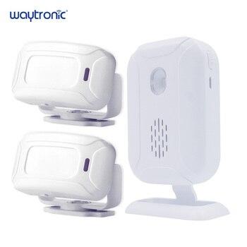 цена на Wireless Welcome Alarm Doorbell PIR Store Shop Entry Motion Sensor Infrared Detector Induction Door Bell