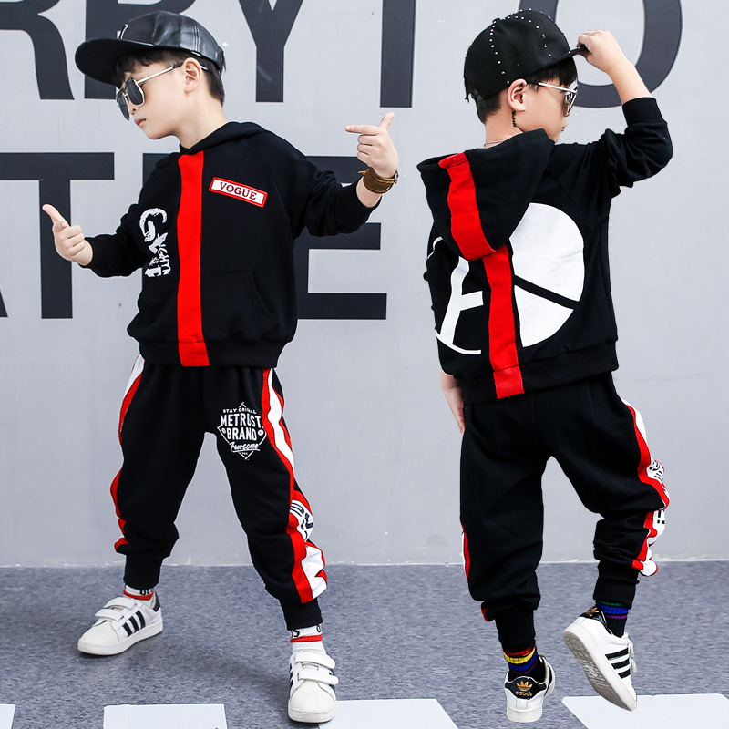 The Best-selling Boy Hip Hop Clothing 2019 Spring Korean Version Set Boy Trend Sweater + Trousers Sports Breathable Two-pieceThe Best-selling Boy Hip Hop Clothing 2019 Spring Korean Version Set Boy Trend Sweater + Trousers Sports Breathable Two-piece