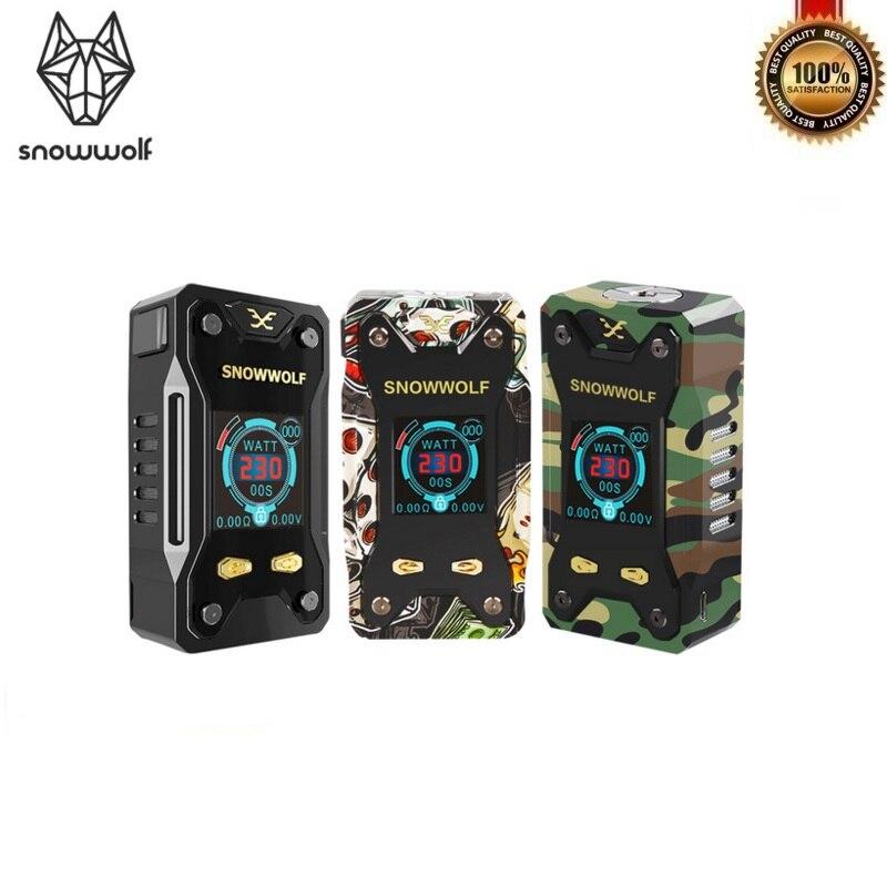 Original Snowwolf XFeng 230 W TC Box Mod alimenté par deux Batteries 18650 Fit 510 fil RTA RDA RDTA Vape réservoir vaporisateur Mod boîte
