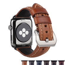 Pelle Watch Strap 38mm 42mm Genuine Leather Band Seamlessly Adapter Replacement for Apple Sport Edition Series 1 2 3 4