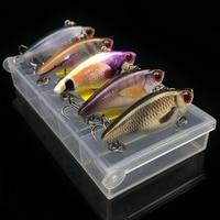 HISTOLURE Fishing Hard Bait Mini VIB Set 4cm 3 5g 5pcs Box Fishing Lures Vib Pencil