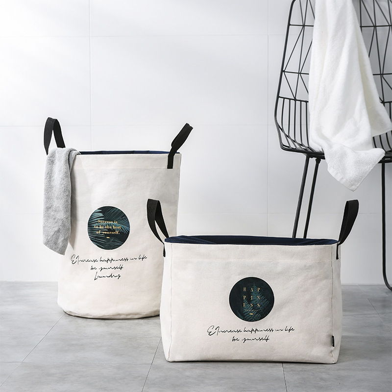 Foldable Thick Canvas Laundry Basket With Lid Pumping Network Excellence Household Storage Bag Organizer For Dirty Clothes Toys
