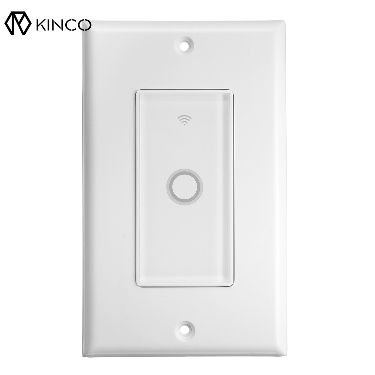 Kinco Modern 110V WIFI Smart Wall Switch Touch Panel Timing APP Remote Control For Alexa/Google Home Assistant