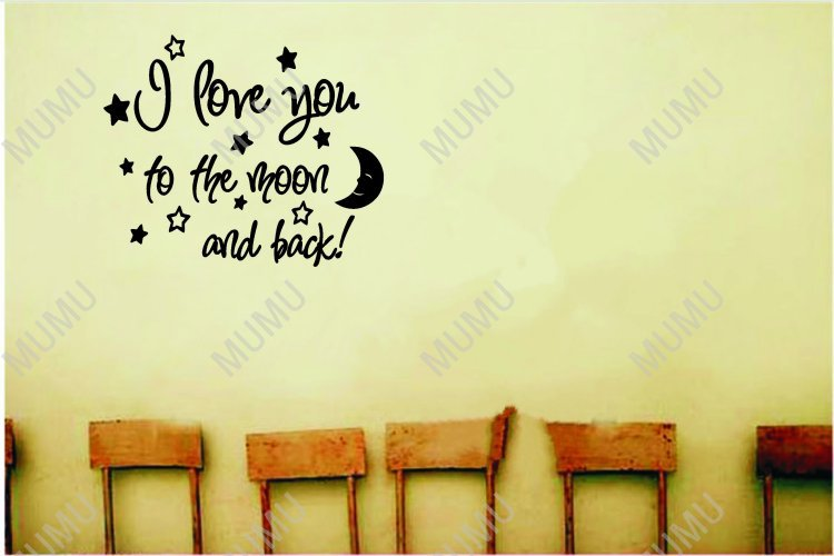 I Love You To The Moon And Back Cute Baby Nursery Wall Art Sayings Vinyl Decal Quote Sticker Home 22 18 In Stickers From Garden On