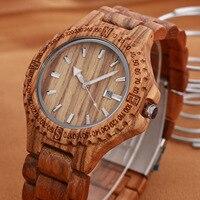 New Top Brand Natural Wood Watch Men Women Waterproof Clock Unisex Wooden Date Wristwatch Fashion Relogio Feminino Masculino