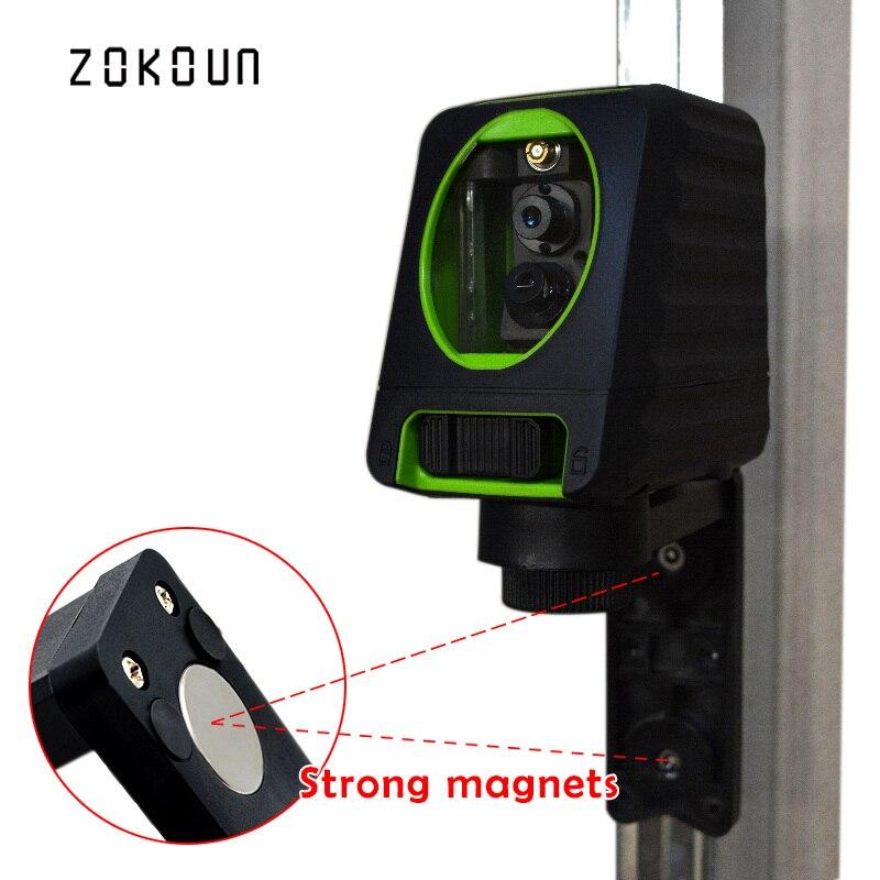 купить Zokoun fall protection rubber covered slash functional Mini 2 green beam Cross Lines self-leveling green beam line laser level онлайн