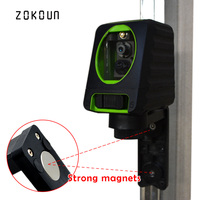 Zokoun fall protection rubber covered slash functional Mini 2 green beam Cross Lines self leveling green beam line laser level