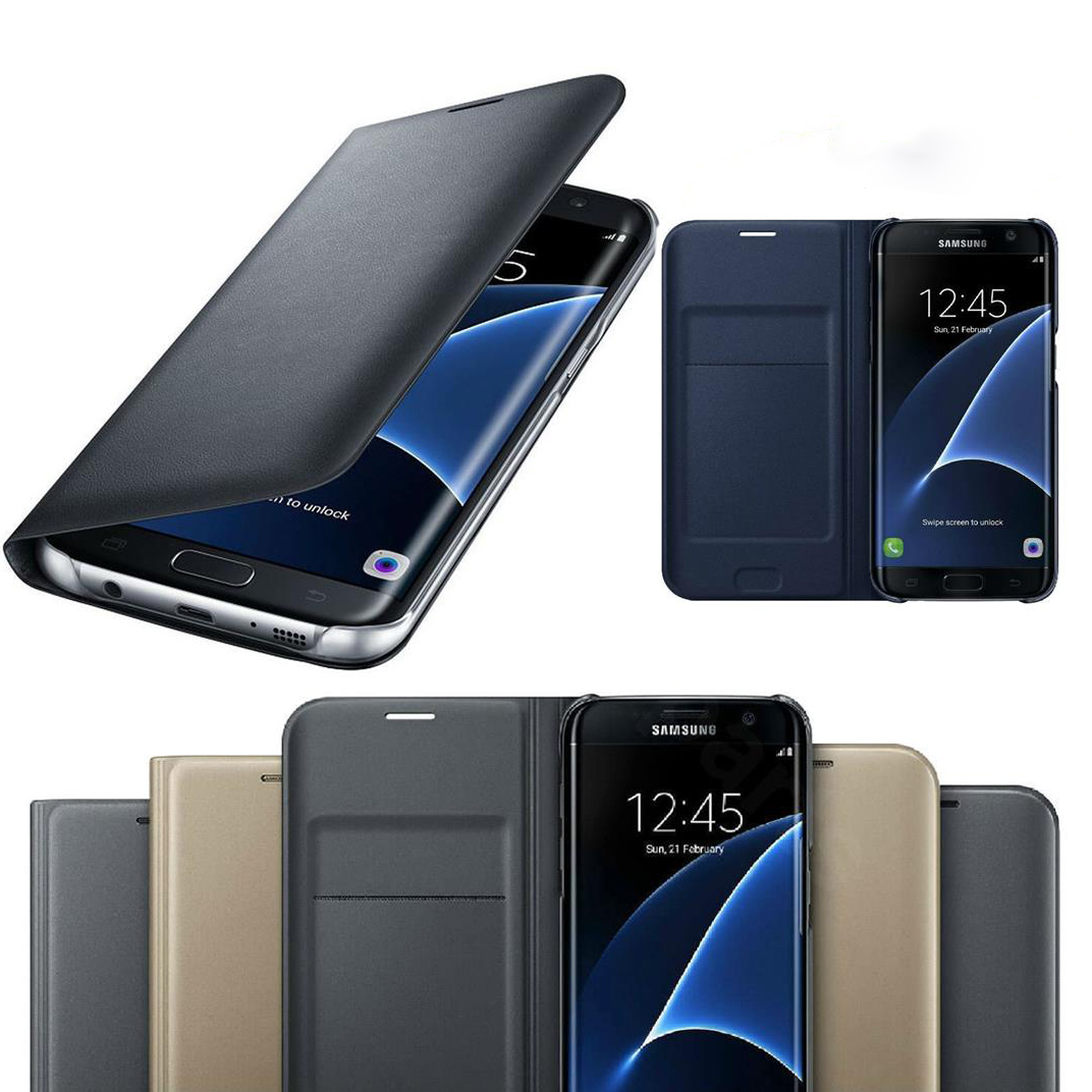 Original Leather Card <font><b>Holder</b></font> Wallet Flip <font><b>Case</b></font> Cover for <font><b>Samsung</b></font> Galaxy A7 A6 A8 A9 2018 A3 A5 J3 J5 J7 2017 <font><b>S9</b></font> S8 Plus S7 Edge image
