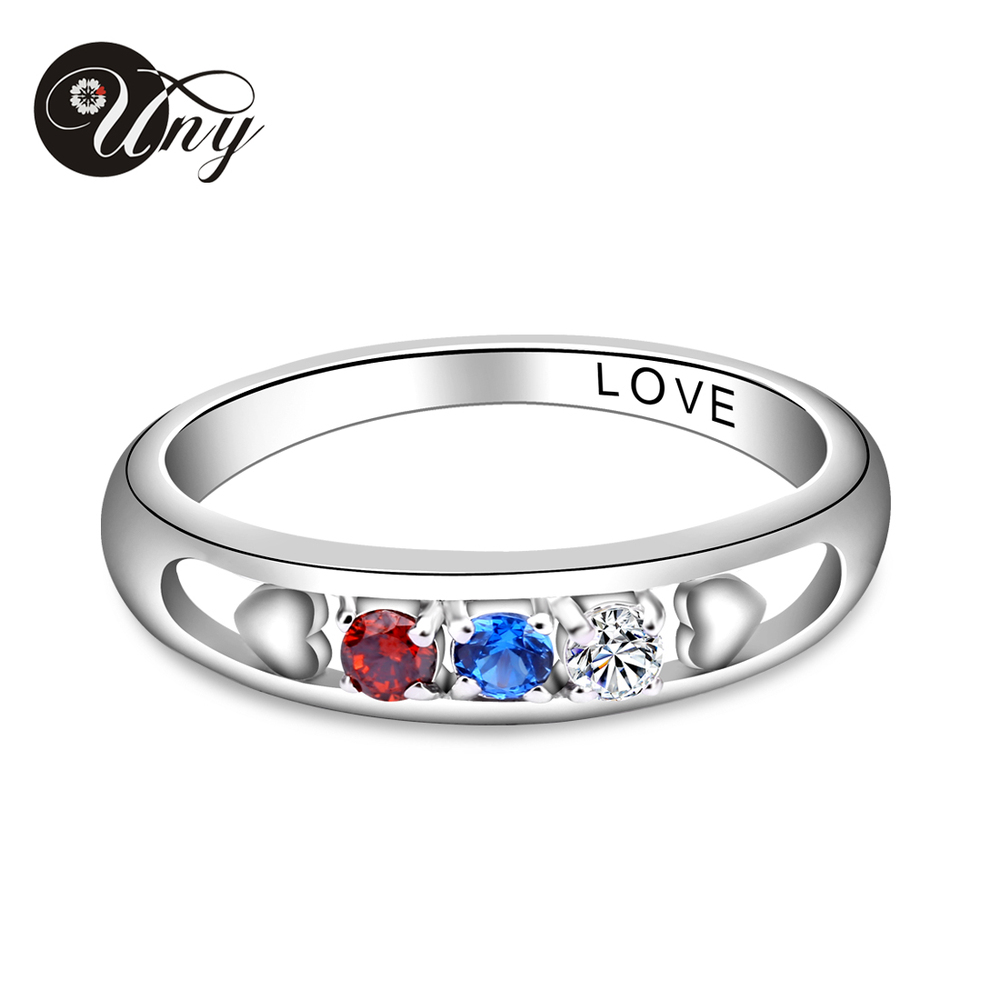 UNY Ring Fashion Jewelry wedding rings Custom Engrave Promise BFF Best Friend rings women Personalized Valentine Love Gifts Ring цена 2017