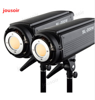 2x Godox SL-200W 200Ws 5600 К Studio светодиодный непрерывной фото видео свет лампы w/Remote CD50
