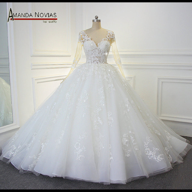 Cheap bling bling wedding dress