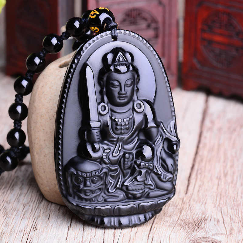 Czarny obsydian sześć gwiazdek amulet na szczęście miłość naturalny kamień naszyjnik dla kobiet mężczyzn miłość kryształ wahadło biżuteria 2019