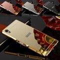 Luxo Aluminum Metal case para Sony Xperia Z5 premium rígido espelho com PC Protector tampa traseira para Sony Z5 Plus híbrido shell