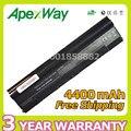Apexway 4400 mah 10.8 v batería del ordenador portátil para asus a31-1025 a32-1025 eee pc 1025 1025c 1025ce 1225 1225b 1225c r052 r052c r052ce