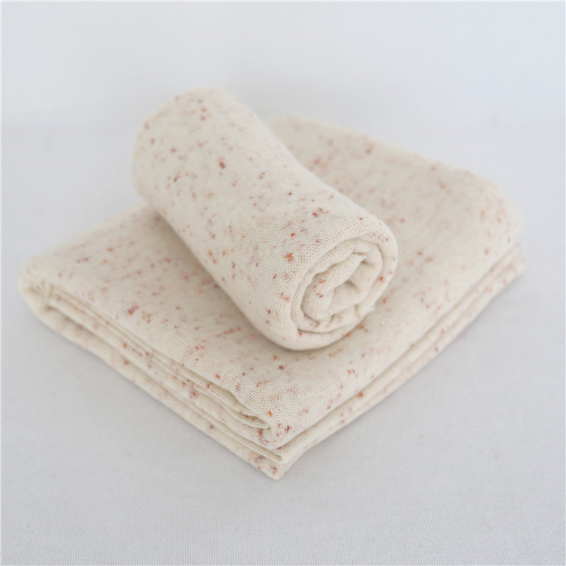 Beige Porpcorn Blanket Dots Knit Posing Fabric Backdrop Bean Bag Cover Jersey Stretch Knit Wrap Newborn Photography Props