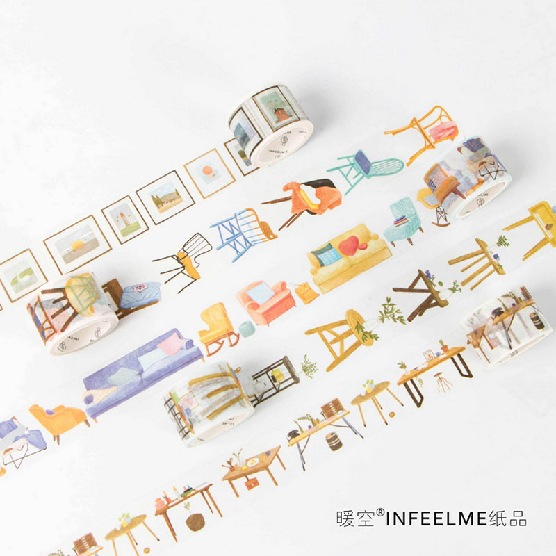 1 Pcs  100 Kinds Of Life 3 Cm X 5 M Washi Tape Children Like Diy Diary Decoration Masking Tape Stationery Scrapbooking Tools