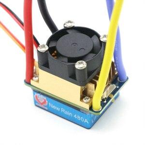 Image 4 - RC ESC 320A 480A szczotkowana prędkość ESC kontroler podwójny tryb Regulator zespół hamulca 5V 3A dla 1/10 RC łódź samochodowa