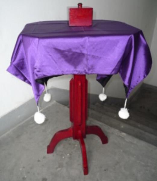 Mesa flotante Super Deluxe (Caja Anti gravedad + candelabro antigravedad), escenario, primer plano, ilusiones truco