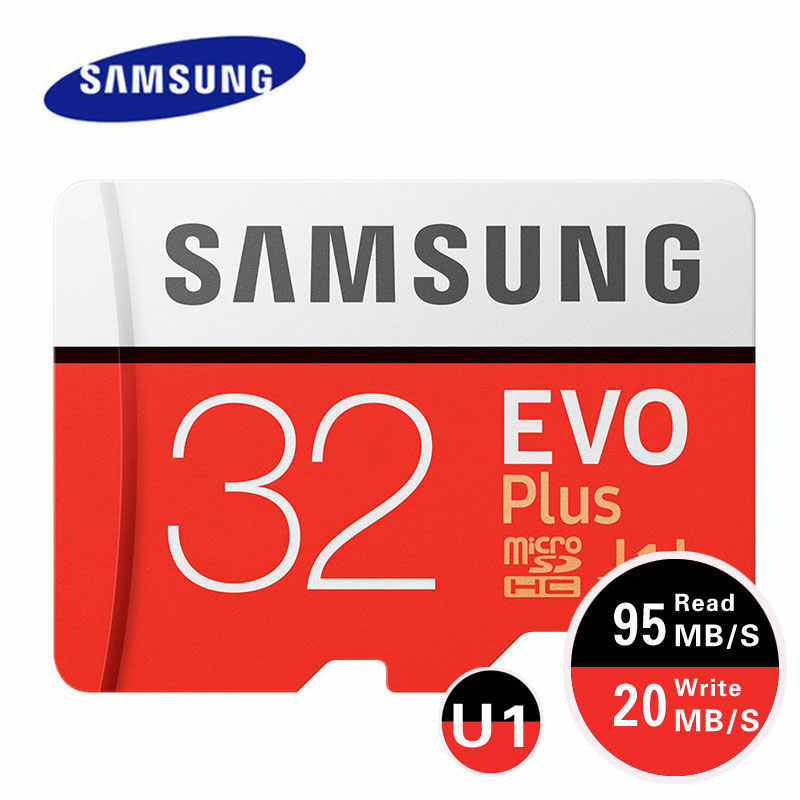 Карта памяти Microsd SAMSUNG EVO Plus 256 Гб карта памяти 128 Гб 64 Гб U3 4K Micro SD карта, 32 ГБ, U1 SDHC класса 10 Microsd UHS-I C10 TF модуль памяти Transflash карты памяти Microsd карта