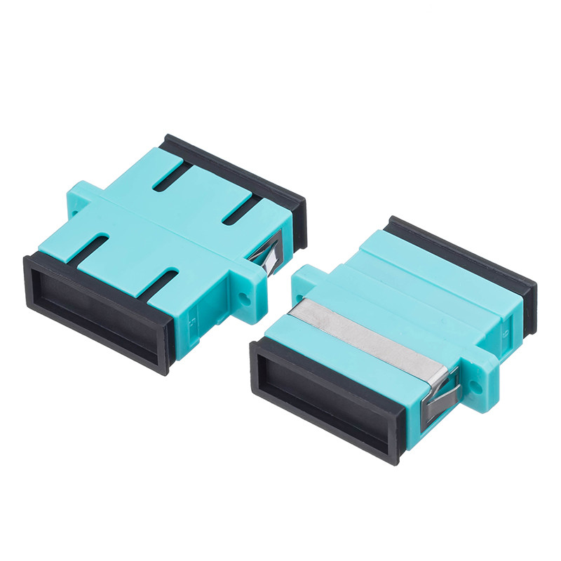 100Pcs/Lot,SC OM3 MM Duplex Fiber Optic Adapter SC UPC Shuttered Fiber Telecommunication Level Coupler Connector100Pcs/Lot,SC OM3 MM Duplex Fiber Optic Adapter SC UPC Shuttered Fiber Telecommunication Level Coupler Connector