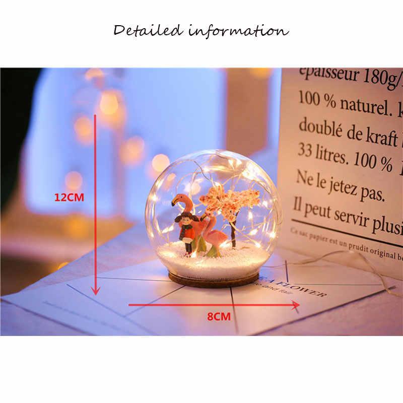 VOPPV светодиодный Ночной светильник с шариком, прикроватная лампа для детей/детский Декор, для сна, рождественские лампы, Светодиодный настольный светильник, настольные ночные светильники