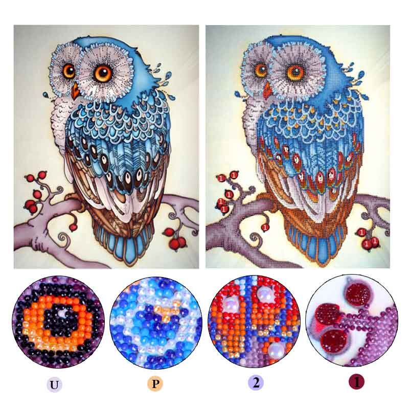 5D DIY Special Shaped Diamond,Owl,Diamond Embroidery,Pasted,3D DIY Diamond painting,Diamond mosaic,Rhinestone,decoration,gift